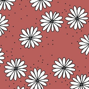 Little sprinkles daisy garden boho spring daisies in trend colors stone red