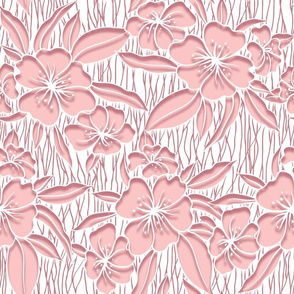 Paper cutout floral pink