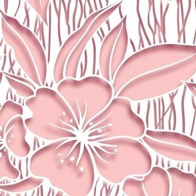 Paper cutout floral pink
