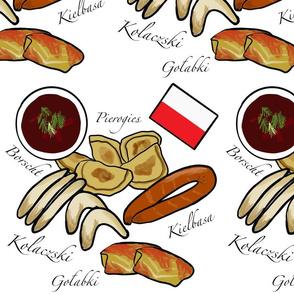 Polish Food White Large