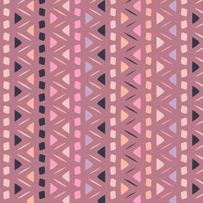 Coco - Tribal Stripe Dusty Rose