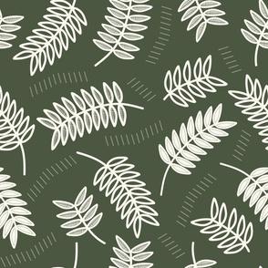 Foliage, modern botanicals // Simple botanical leaves