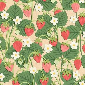 Papercut Strawberry Patch