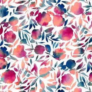 Watercolor Papercut floral