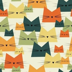 cats - nala cat vintage - geometric cats