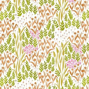Wildflowers of paper - orange