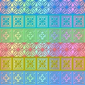papercut rainbow napkin