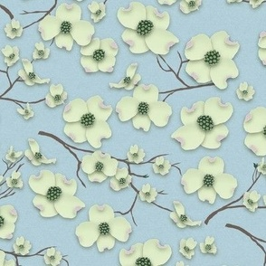 Papercut Dogwood Flowers - © creative8888