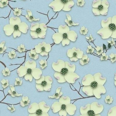 Papercut Dogwood Flowers - © creative8888