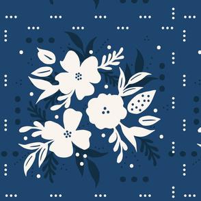 Papercut Florals Square