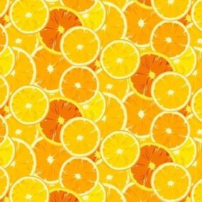yellow orange slices scatter
