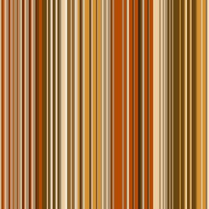 skinny stripes burnt orange, apricot, rust, brown, beige