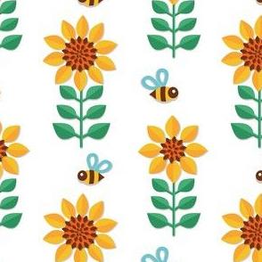 Sunflower papercut
