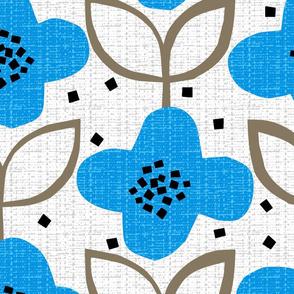 blue cut-paper flower - jumbo