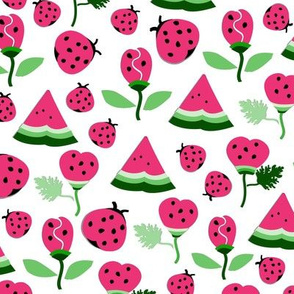 Watermelon Papercut Garden