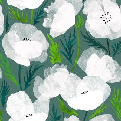 White poppies SMALL