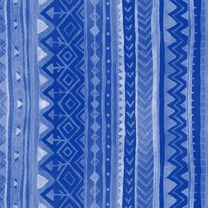 Tribal stripes / Blue