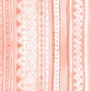 Tribal stripes / Coral Pink