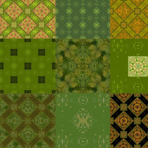 patchwork  green and yellow funny sunday2