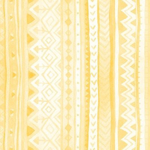 Tribal stripes / Yellow