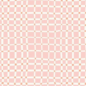 Weeds & Wildflowers: Pink & White Abstract Plaid