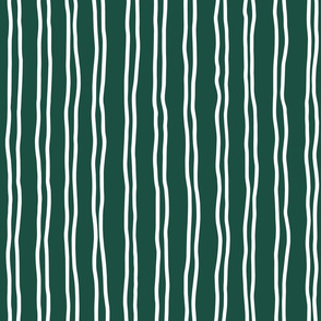 inverted squiggle stripes   large scale in dark green