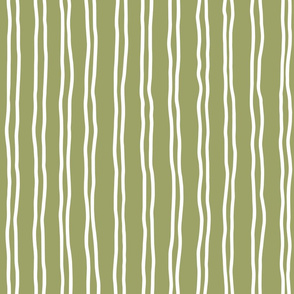inverted squiggle stripes   large scale in olive green
