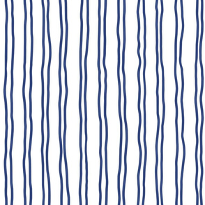 squiggle stripes   large scale in navy