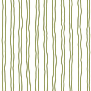 squiggle stripes   large in olive green