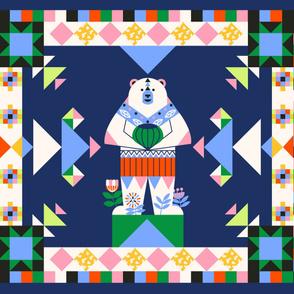 White Bear Cheater Quilt