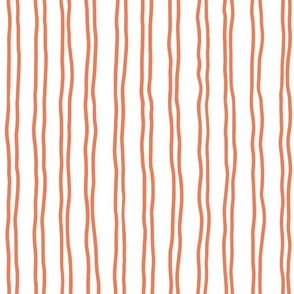 squiggle stripes   large scale in orange