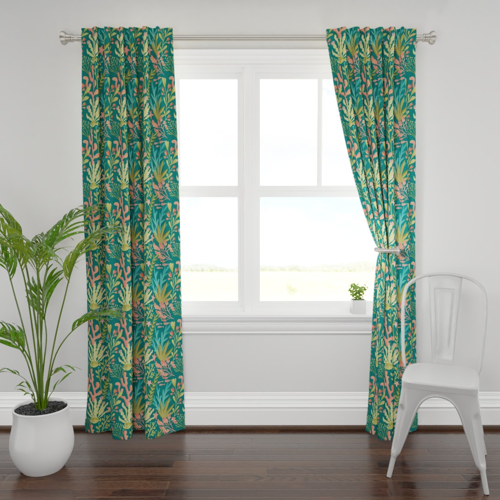Plymouth Curtain Panel featuring FAP_Pattern6_plants by fineapple_pair