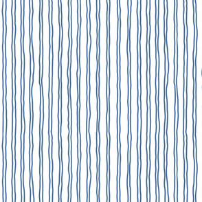 squiggle stripes   small scale in blue