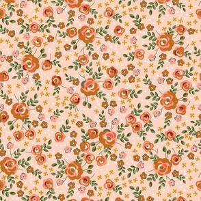 Vintage Chintz Roses- Pinkesque