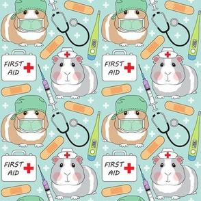 medium doctor and nurse guinea pigs