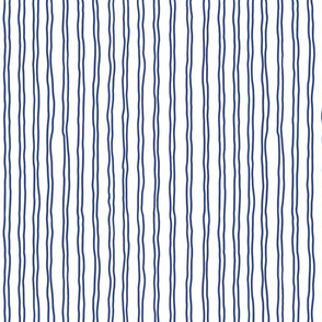 squiggle stripes   small scale in navy