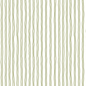 squiggle stripes   small scale in olive green