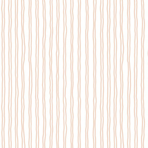squiggle stripes   small scale in peach pink