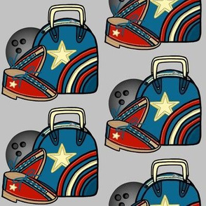 Mod Bowl / Bowling Bag Ball and Shoes
