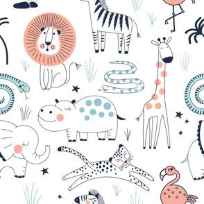 Safari Animals - Juvenile