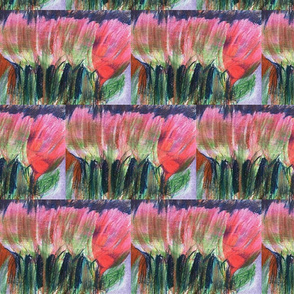 Row of Tulips -251 half brick