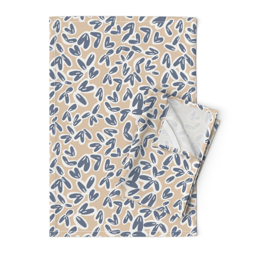 Orpington Tea Towels featuring Leaves by jillianhelvey