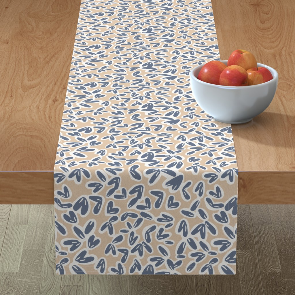 Minorca Table Runner featuring Leaves by jillianhelvey