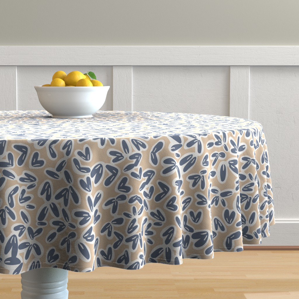 Malay Round Tablecloth featuring Leaves by jillianhelvey