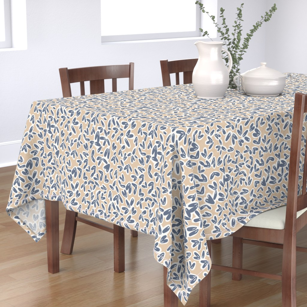 Bantam Rectangular Tablecloth featuring Leaves by jillianhelvey