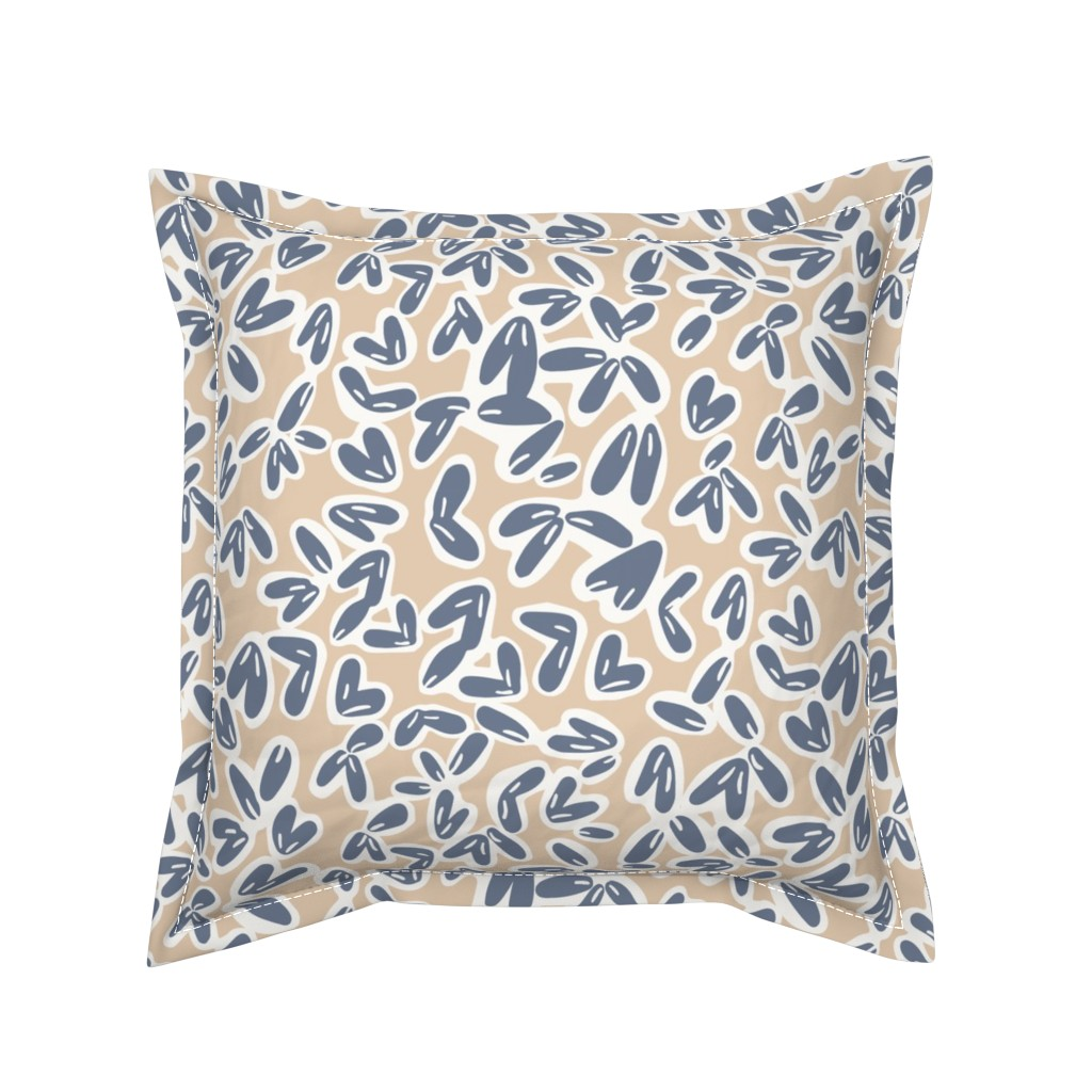 Serama Throw Pillow featuring Leaves by jillianhelvey
