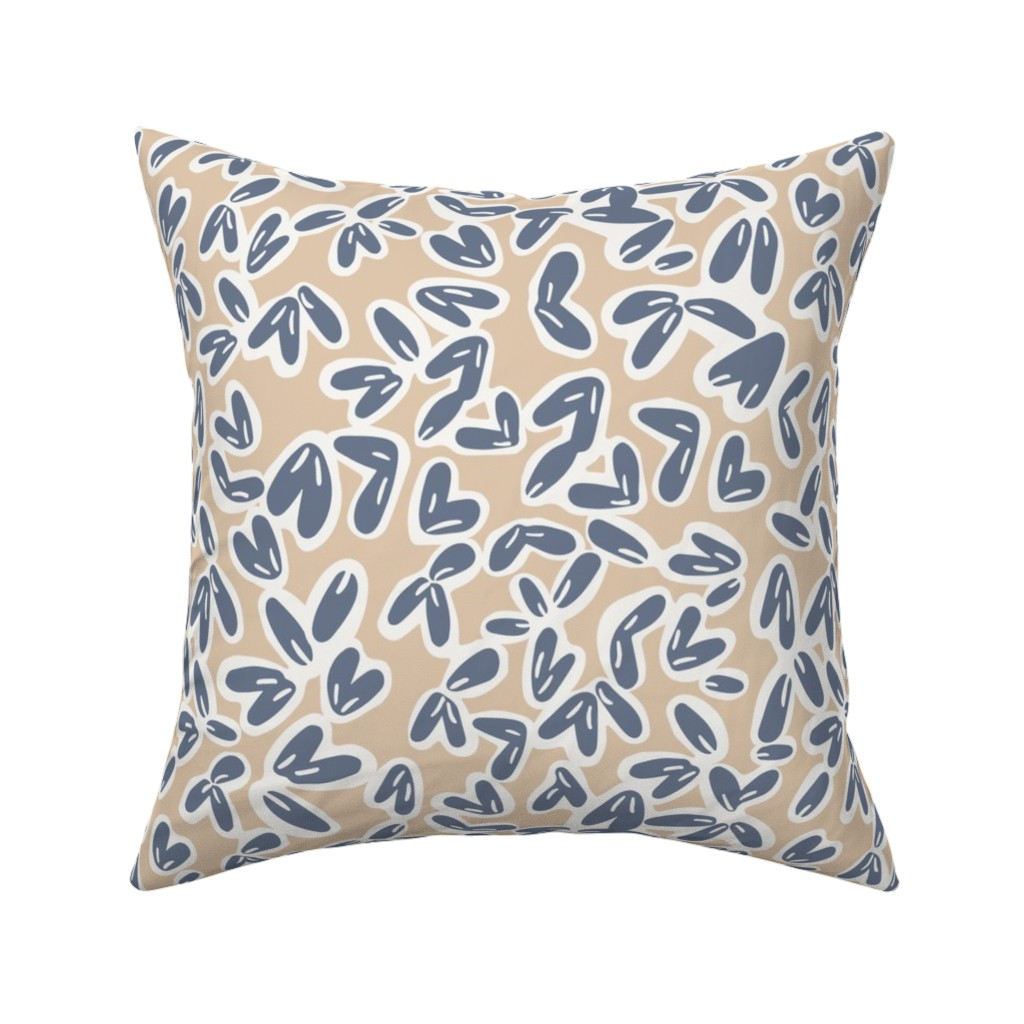 Catalan Throw Pillow featuring Leaves by jillianhelvey