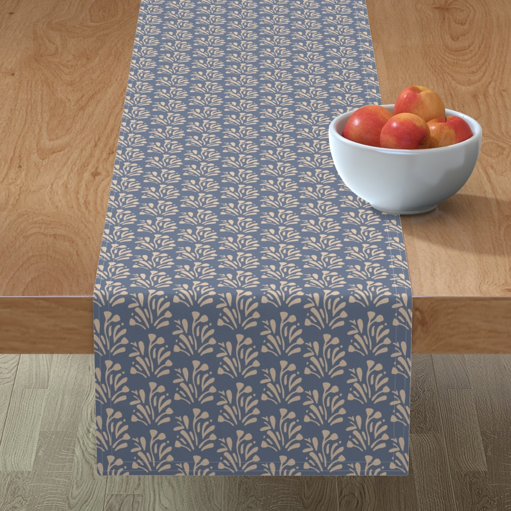 Minorca Table Runner featuring Stems by jillianhelvey