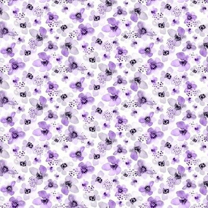 Ditsy Lilac Lavender Berry Floral Small Scale by Angel Gerardo