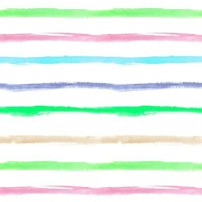 Colorful watercolor brush strokes for modern nursery